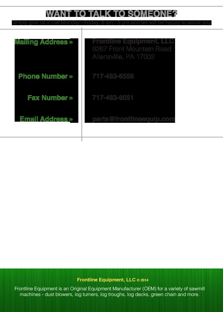 Frontline Website - Contact Us Feb2015